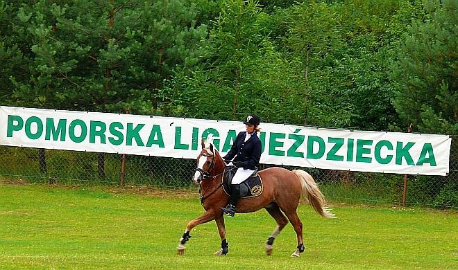 Zawodniczka naszego klubu – Anhelika Mishlanava w czasie zawodów regionalnych we Wdzydzach.